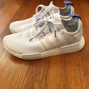 Adidas NMD size 8.5 white and blue